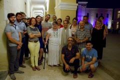 Nadia Mifsud. Awissu 2015, waqt il-Festival Mediterranju tal-Letteratura ta' Malta, mat-tim ta' Inizjamed.