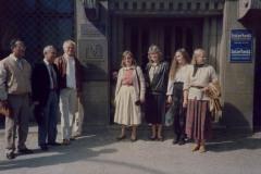 Rena Balzan. Settembru 1989, barra l-Għaqda tal-Kittieba f'Berlin tal-Lvant. Mix-xellug: Achille Mizzi, Victor Fenech Francis Ebejer, Rena Balzan, Lillian Sciberras, u żewġ impjegati tal-għaqda.